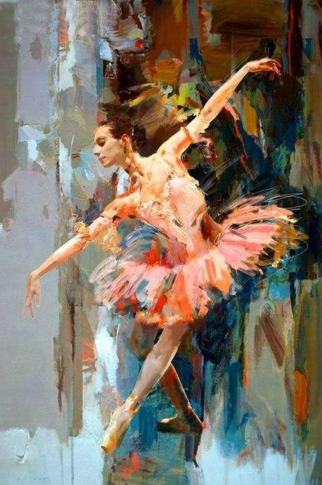 Вышивка девочка балерина