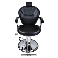 Shellhard Adjustable Barber Chair Styling Salon Hair Hydraulic Chair Barber Home Furniture Black