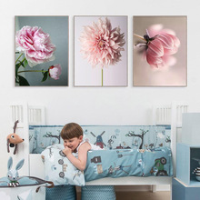 Unframed Nordic Spray Poster Blush Poney Beauty Canvas Painting Life Flowers  Art Posters And Prints Decoration Wall Pictures