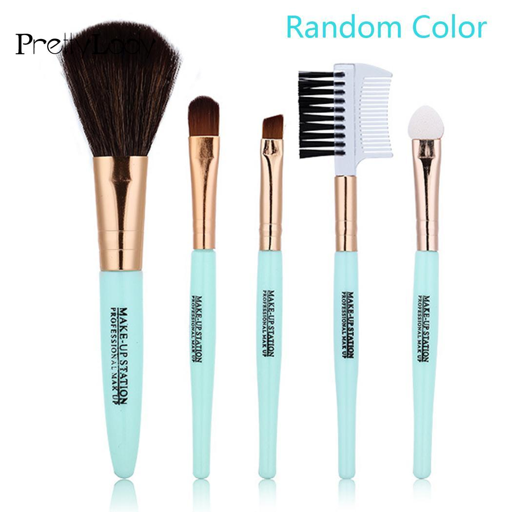 Cosmetic Makeup Brushes Set 5PCS Blush Eyeshadow Lips Brush Eyebrow Comb Tools 5pcs makeup brushes set eyeshadow eyebrow lip blush cosmetic powder brush tools w259m 25