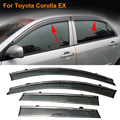 Car Stylingg Awnings Shelters 4pcs/lot Window Visors For Toyota Corolla EX 2010-2016 Sun Rain Shield Stickers Covers