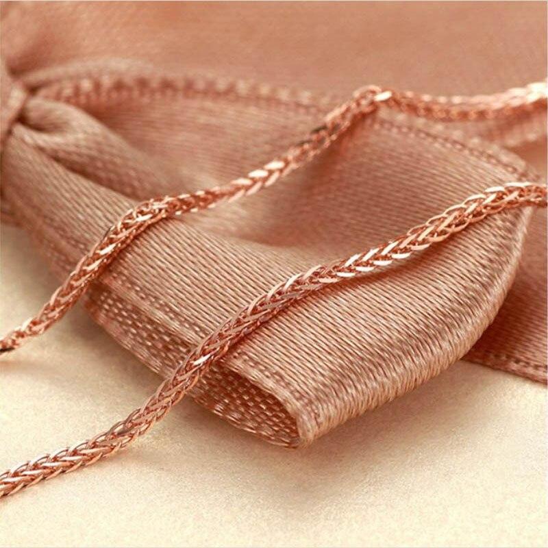 ANI 18 K or jaune (AU750) chaîne collier pour femmes fiançailles trois couleurs Fine Chopin chaîne pour pendentif 16 pouces ou 18 pouces - 6