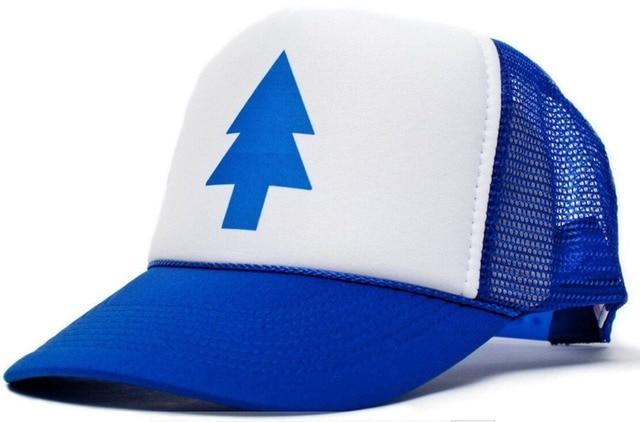 26a54e522f50c New Curved Bill BLUE PINE TREE Dipper Gravity Falls Cartoon Hat Cap Trucker  Cool adult s hip hop cap