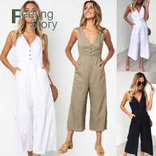 d78b123c8cc1 White Linen Jumpsuit - Compra lotes baratos de White Linen Jumpsuit ...