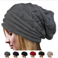 2016 New Fashion Hat Female Warm Baotou Winter Hat Skullies Beanies Skull Pattern One Size Outdoor Set of Head Cap Knitted Hat