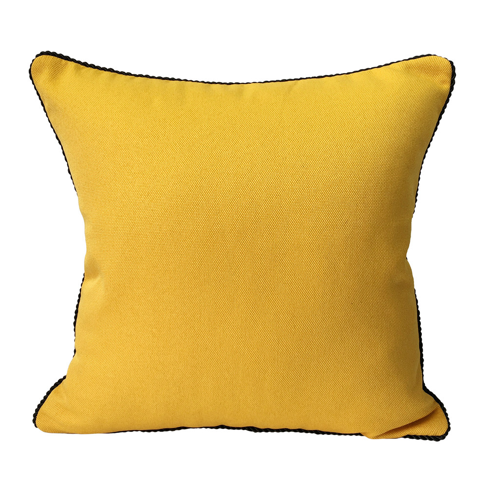 contemporary pillow covers reviews  online shopping contemporary  - contemporary linen like solid cushion cover plain faux linen rope pippingsofa blue yellow brown pillow case  x  cm  colors