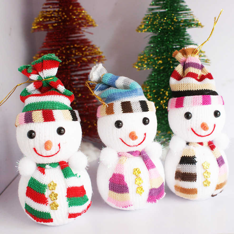 Dog christmas ornaments - Christmas Snowman Doll Christmas Tree Christmas Ornaments Accessories Decorative Snowman Gift Wholesale