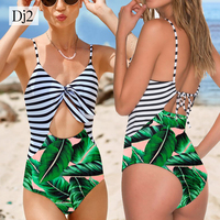 2018 New Arrivals One Piece Sexy Hollow Out Swimwear Bandage Swimsuit Girl Bodysuit Beachwear Bathing Suit