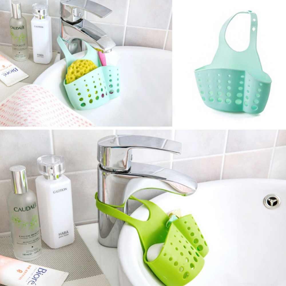 Zlew kuchenny i umywalka łazienkowa gąbka wisząca regał pcv regał spustowy kran przechowywanie wiadro półki 4 kolory