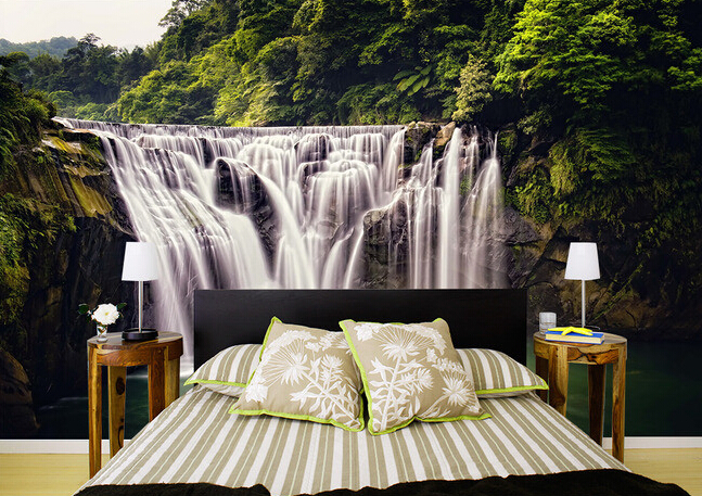 bedroom waterfall. Custom wallpaper 3D  river waterfall for living room bedroom TV background wall waterproof papel de parede in Wallpapers from Home Improvement on