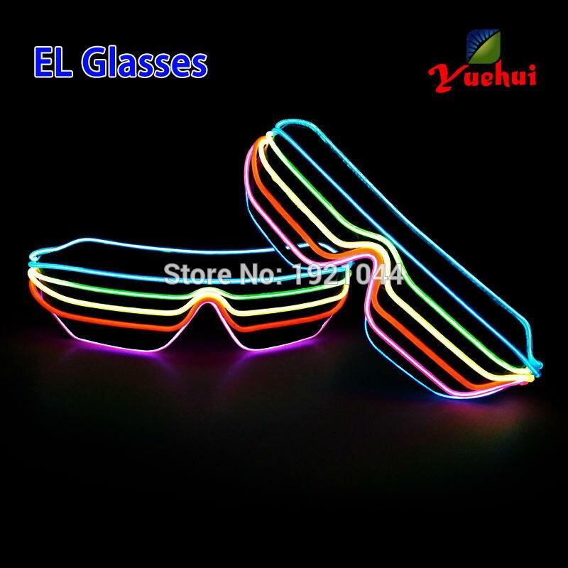 Novi očala Šest barvnih večbarvnih zvočno aktiviranih EL žic - Prazniki in zabave - Fotografija 3