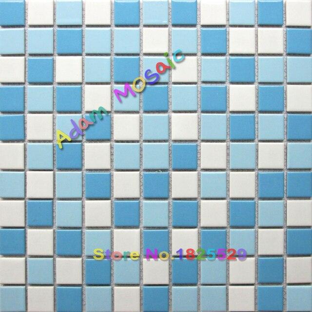 Schwimmbad Fliesen Blau Weiss Ceramice Porzellan Fliesen Grenze