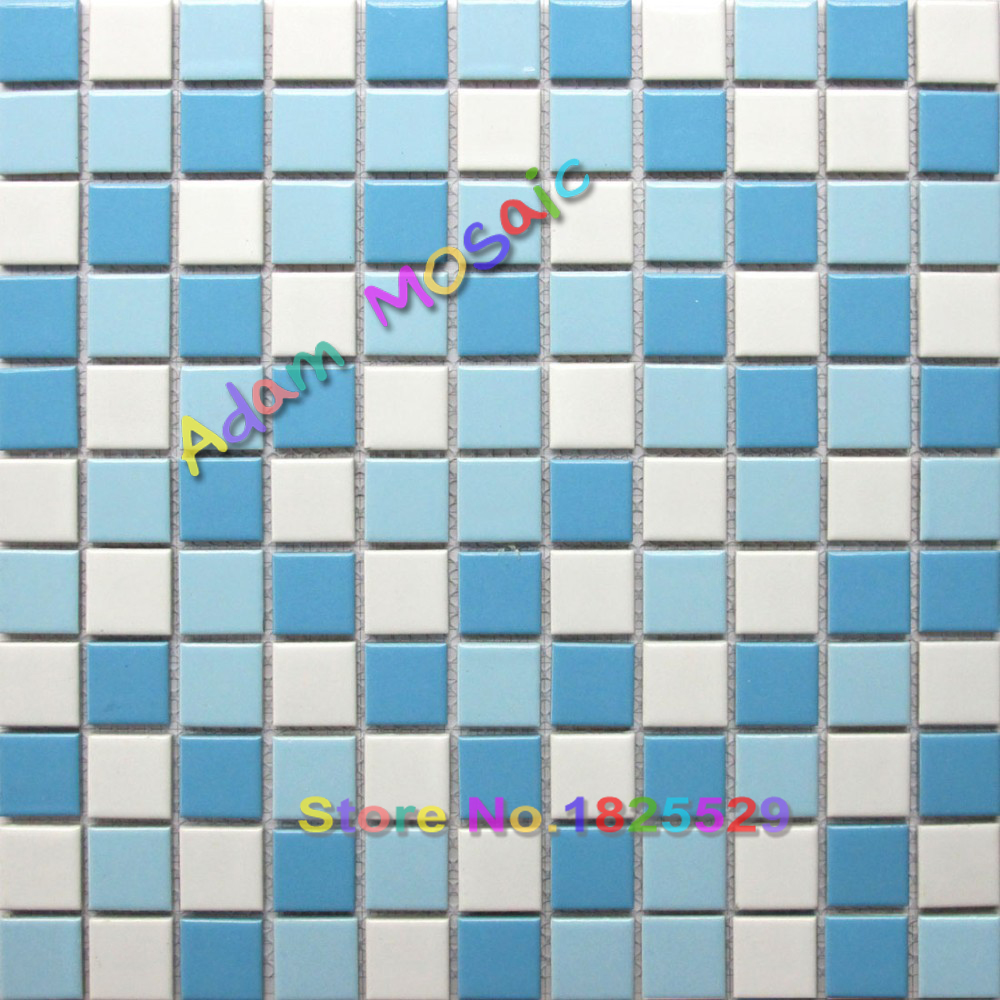 swimming pool tile blue white ceramice porcelain tiles border ...