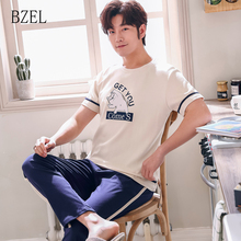 BZEL 2019 Summer&Spring Mens Cotton Pajama Set New Sleep