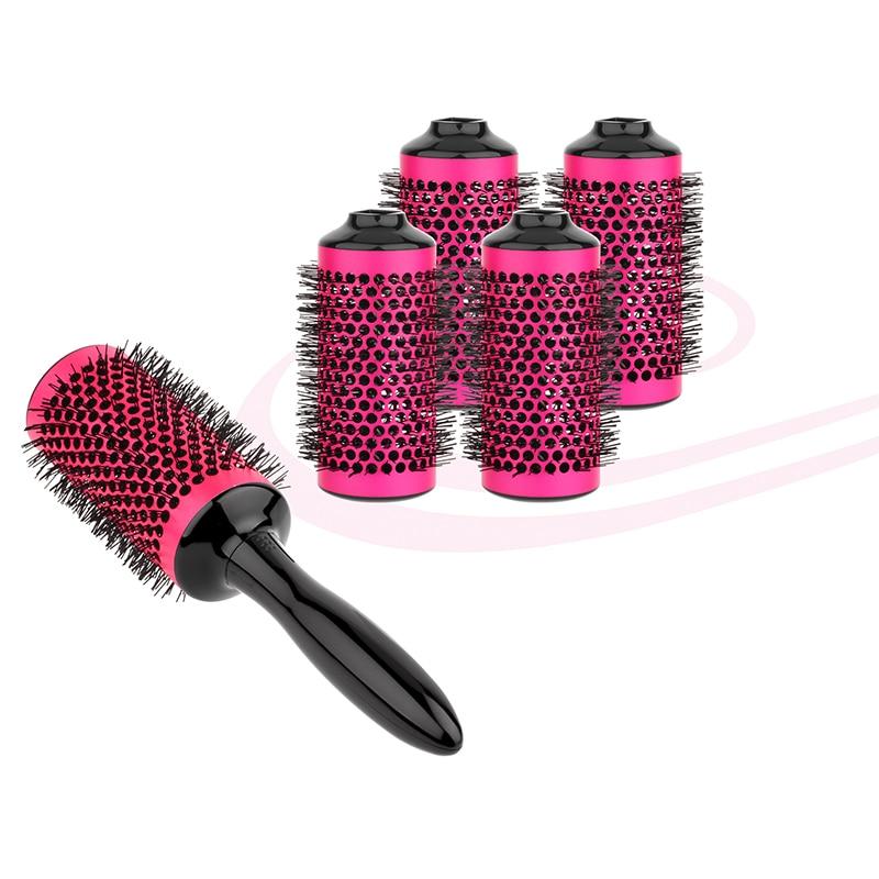 Aliuminio apvalių kirpyklų plaukų salonų įrankiai Plaukų - Plaukų priežiūra ir stilius - Nuotrauka 3
