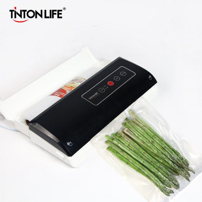 TintonLife Sellador del Vacío Del Hogar de Múltiples funciones Automático Sistema de Sellado Al Vacío Mantiene Fresca hasta 7x Ya SX-100