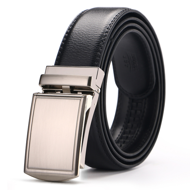 b33d4e2e1953 Men Genuine Leather Belt Automatic Buckle Designer Belts High Quality  Formal Solid Jeans Waist Business Style 44-52