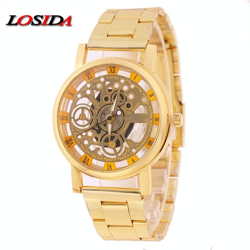 Guarda le donne Losida Brand Luxury Fashion Casual Quartz Orologi - Orologi da uomo