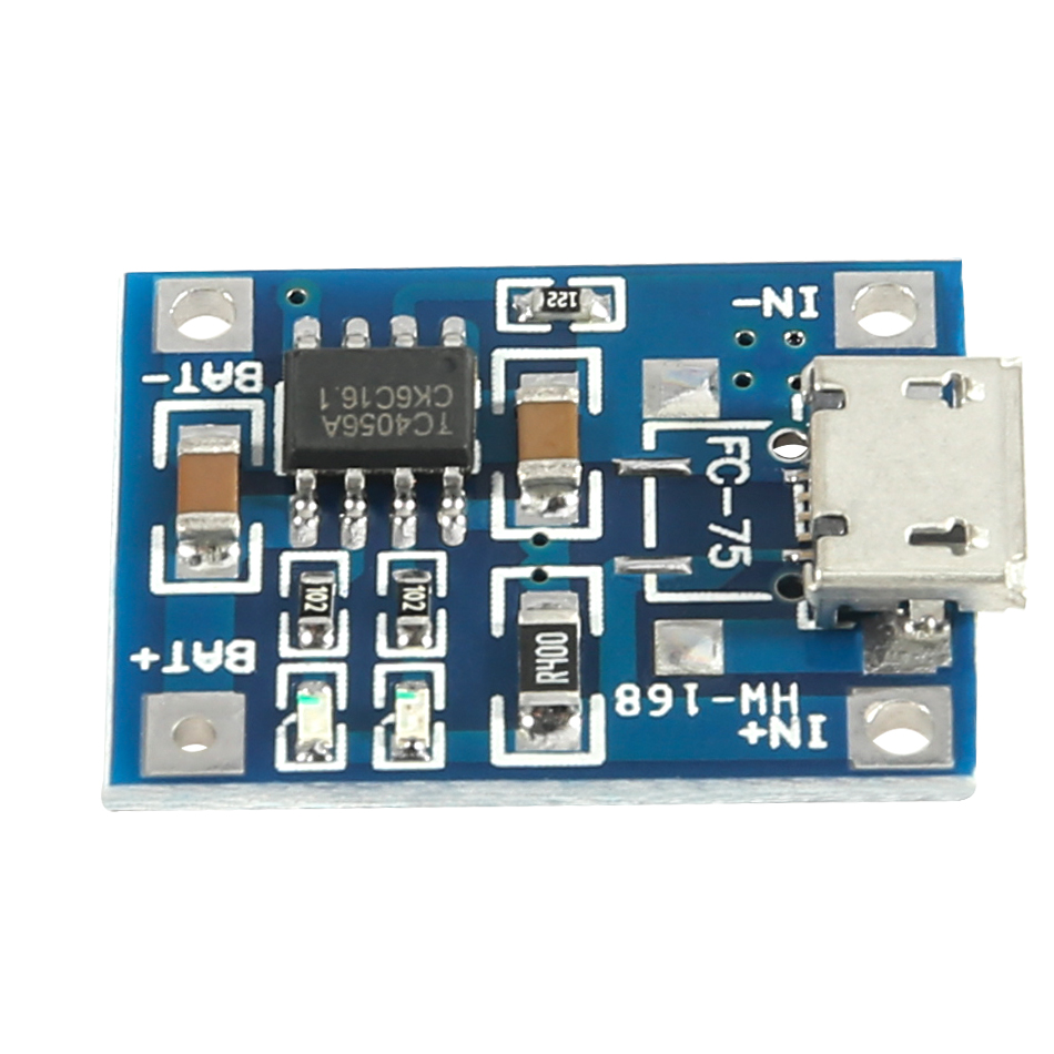 5pcs 5V Micro USB 1A 18650 Lithium Battery Charger Board Module TP4056 de