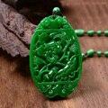 Natural verde jade escultura de peixe Mulheres camisola cadeia pingente de colar de moda presentes da jóia Frete Grátis