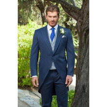 Terno Para Casamento 2017 Custom Made Handmade Blue Men's Wedding Tuxedos Formal Occasion Suits Best Man Suits Party Blazers