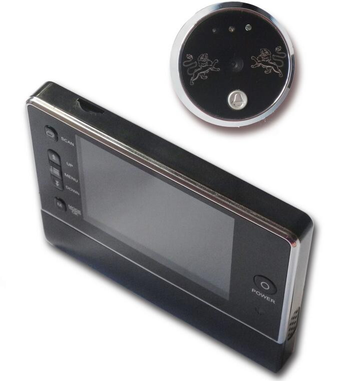 3 5 Inch Screen Doorbell Peephole Digital Viewer Doorchime