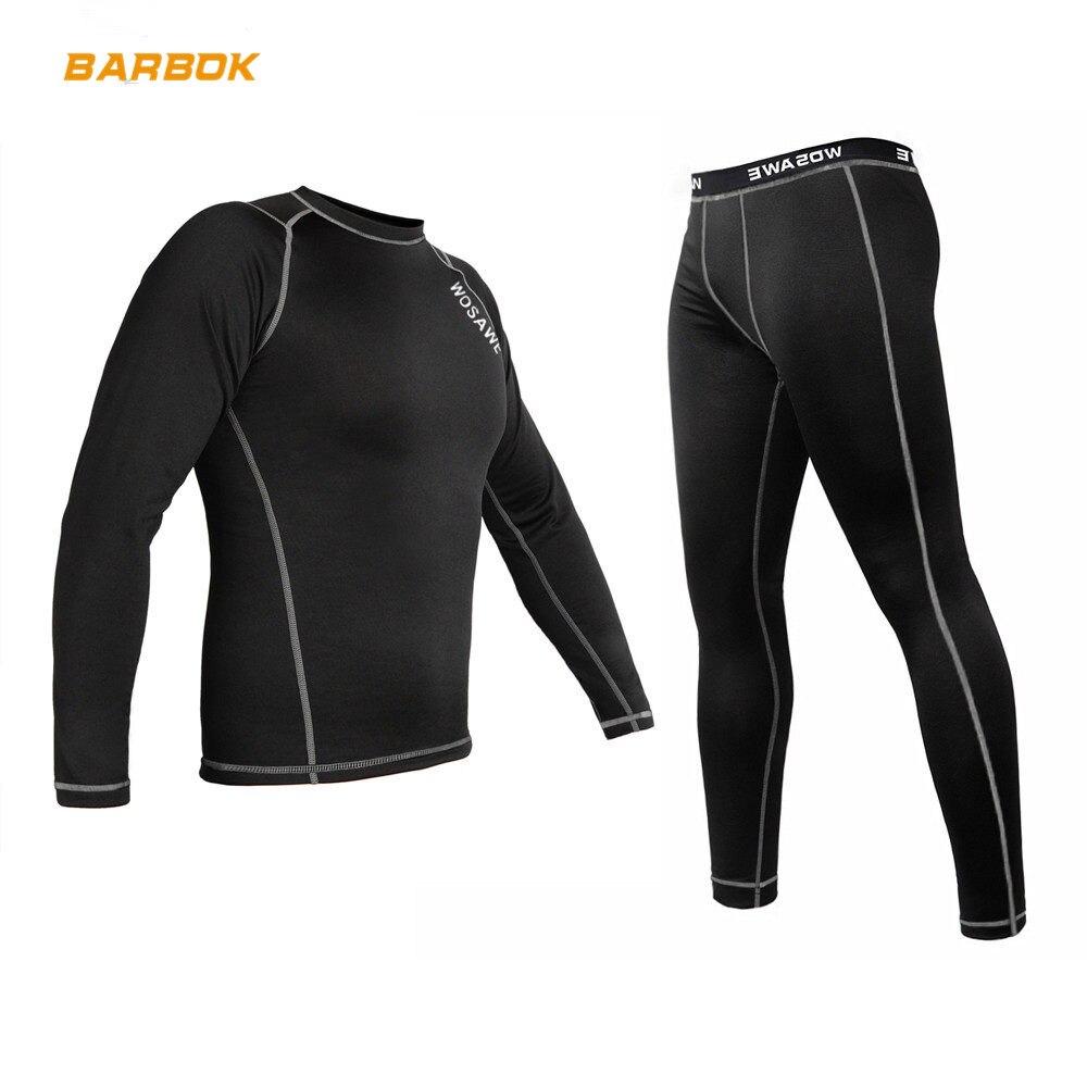 WOSAWE hiver thermique polaire moto vêtements ensemble de sous-vêtements chaud Motocross course couche de Base Jersey pantalon Long Johns costume