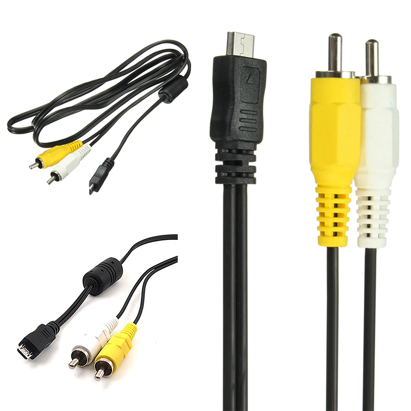 New Arrival 1pc Micro USB Male to 2 RCA AV Adapter Cable Audio Video Cable for Mobile Phone