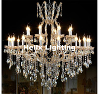 Free Shipping Large Champagne Crystal Chandelier Lighting Top Luxury Factory Direct Selling D90cm LED Design Crystal