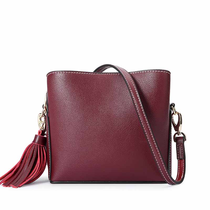 MANFUNI Now Genuine Leather Handbags Real First Layer Cow Female Messenger Bags Brand Design Asual Tote Shoulder Bag