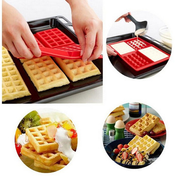 High Quality Waffle Makers for Kids Silicone Cake Mould Waffle Mould Silicone Bakeware Set Nonstick Silicone Baking Mold Set Bakeware