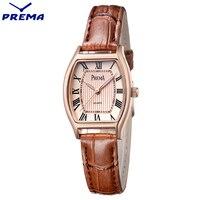 2017 PREMA Brand Fashion Women Watch Leather Analog Quartz New Red Dress Wrist Watch Women Luxury