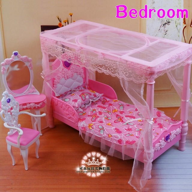 New Arrival Girl Gift Play Toy Doll House Bedroom Furniture For BJD Doll  For Baby Doll
