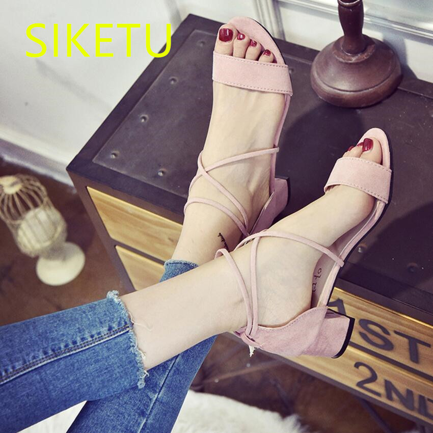 SIKETU 2017 Free shipping Spring and autumn women shoes high heels shoes fashion sweet  Wedding shoes Roman wind pumps g075 siketu 2017 free shipping spring and autumn women shoes fashion high heels shoes wedding shoes sex was thin pumps g230