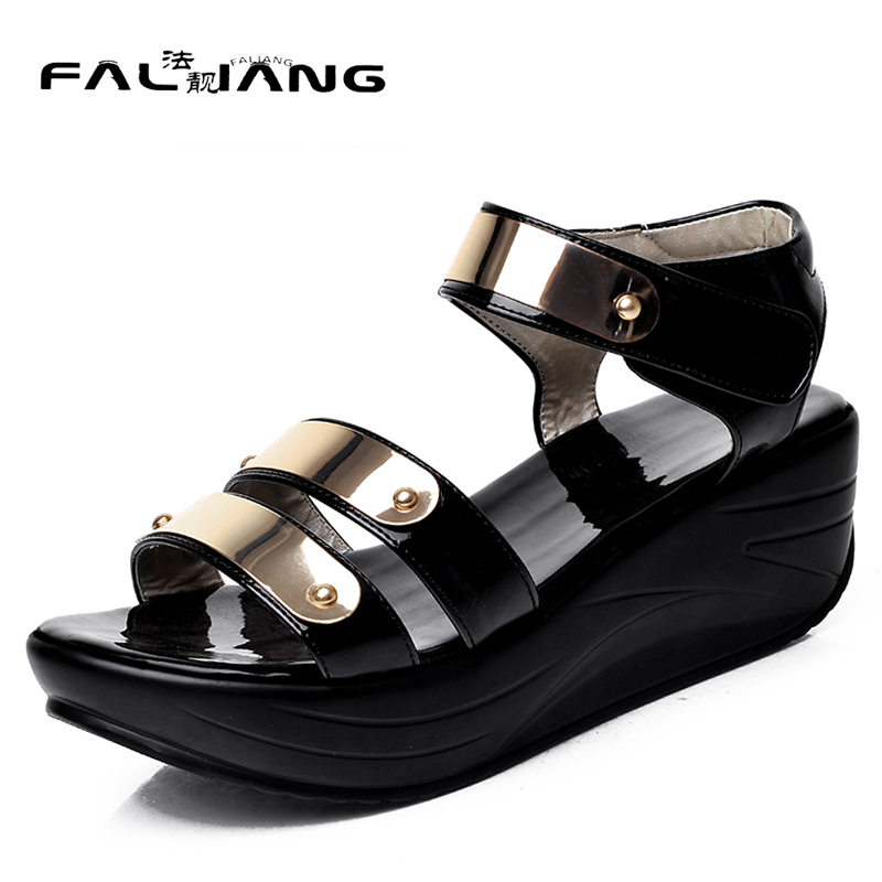 New arrival summer plus size 11 12 fashion Bling womens Peep Toe shoes thick high flat shoes summer sandals ladies sandals new 2017 spring summer women shoes pointed toe high quality brand fashion womens flats ladies plus size 41 sweet flock t179