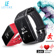 Letike K1 Smart Bracelet real-time Heart Rate Monitor Sport fitness Tracker Watch Smartband Pedometer Smart Band for Android IOS