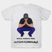 03029a01a 100% Cotton O-neck Custom Printed Tshirt Men T shirt Hustle. Patience.
