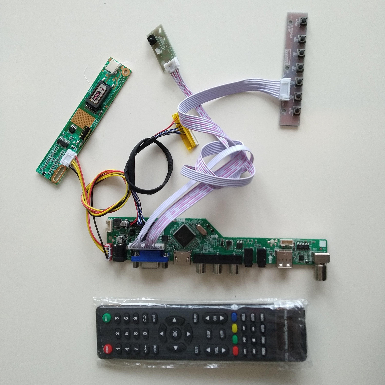 TV TV56 USB AV Audio DVI VGA LCD RF HDMI Controller Board Kit For 17.1 LP171WP4(TL)(N1)/(TL)(B5) Screen 1440X900