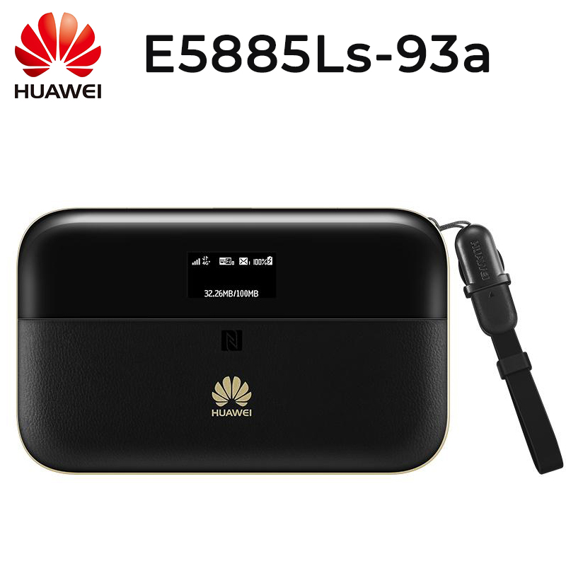 Unlock HUAWEI E5885Ls 93a cat6 mobile WIFI PRO2 with 6400mah Power Bank Battery and One RJ45