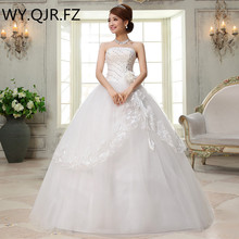 Real photos wholesale plus size customize cheap new 2017 bride dresses long sweet princess lace up fashion wedding dress #H27