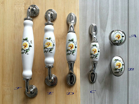 3 3.75 5 6.3 Kitchen Cabinet Pulls Handles Knobs White Silver Flower Blossom Dresser Drawer Pull Handles Knob Door Handles 7 5 silver white dresser kitchen cabinet door handles knobs silver black drawer cupboard knobs pulls 160mm modern simple handles