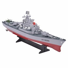 RC Boat 1:250 WarShip Remote Control Military Battleship Central Command Cockpit Seaplane Electronic Model For Kids Hobby Toys