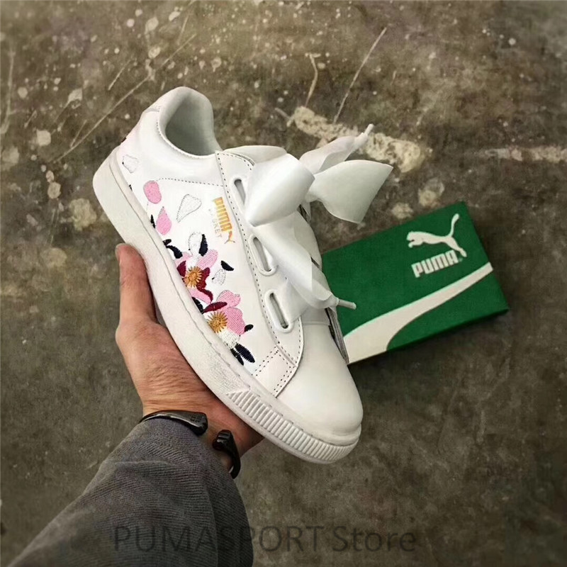 2018 New Arrival Puma Basket Heart Explosive Women's Breathable Sneakers Badminton Shoes Size 35-39