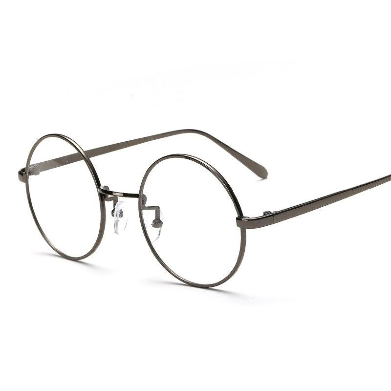bce4cc9b43 Oversized Round Glasses Frame Clear Lens Women Men Retro Eyeglasses Optical  Frame Eyewear Vintage Lazy eye glasses 2805-in Eyewear Frames from Apparel  ...