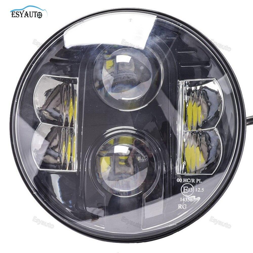 7-дюймовый фары сертифицированы Е13 светодиодные 7 высокая низкая Луч 80W белый DRL для джип Вранглер Харли Дэвидсон черный/хром 1 шт