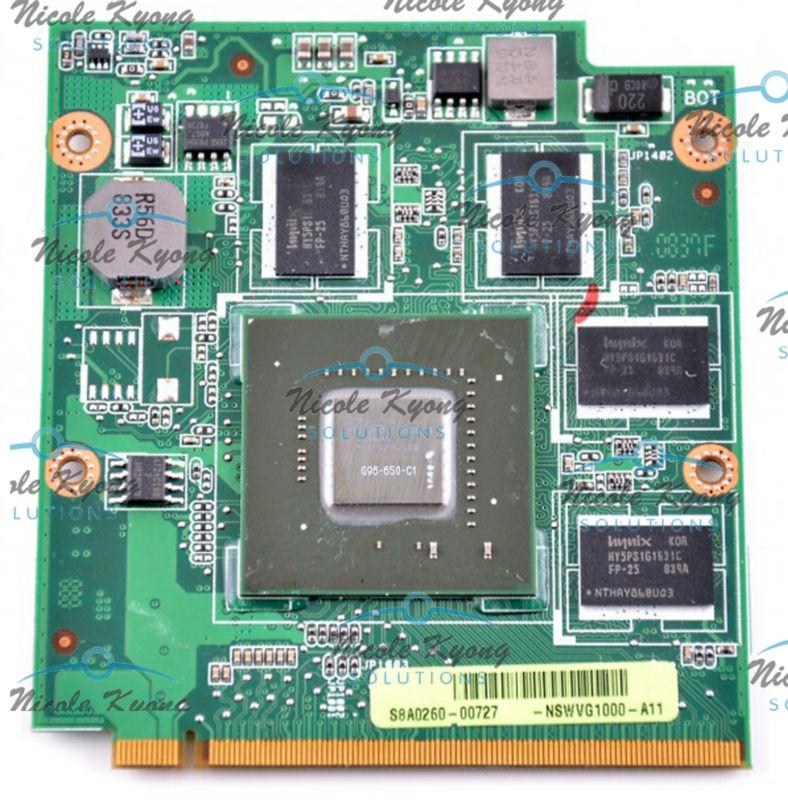 9650M GT G96 650 C1 M50V-9PGE2 Rev 2.1 NSWVG1000 08G2015MM21Q DDR2 VGA video card for ASUS N80V N80VN N80VM