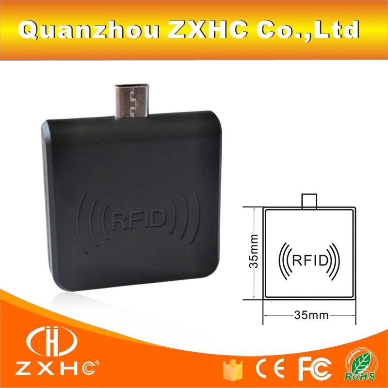 все цены на Portable 13.56 MHz F08/MF S50 RFID Reader Android Mirco USB For Smart Phone Keypad Emulation онлайн