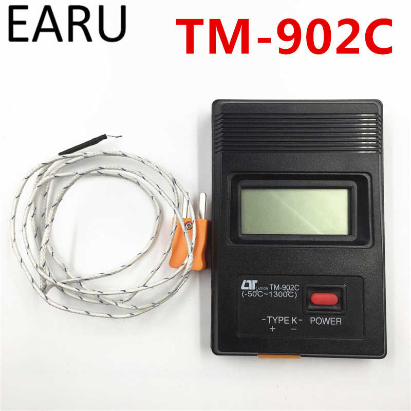 TM-902C Digital LCD Thermometer Temperature Detector Industrial Thermostat Sensor Meter K Type Single Input Thermocouple Probe