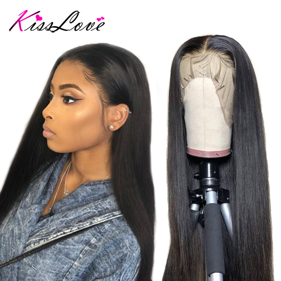 Brazilian Full Lace Frontal Human Hair Wigs For Women Remy Hair Straight Wig With Baby Hair