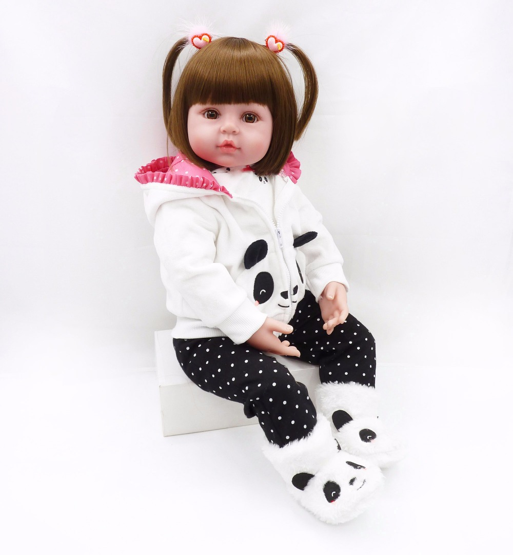 60cm Soft Silicone Reborn Baby Doll Toys Like Real 24inch Princess Toddler Girls Babies Dolls Lovely Birthday Gift Fashion Xmas new fashion design reborn toddler doll rooted hair soft silicone vinyl real gentle touch 28inches fashion gift for birthday